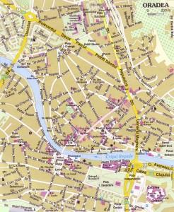 Oradea - harta oras