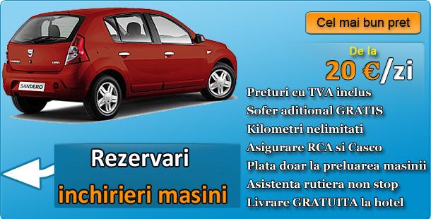 Inchirieri masini Oradea  - discount 10 % la rezervari online